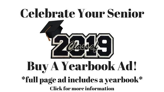 "Celebrate your Senior - buy a yearbook ad! ""full page ad includes a yearbook"" - click for more information"
