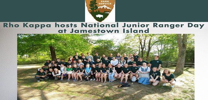 Rho Kappa hosts National Junior Ranger Day at Jamestown Island