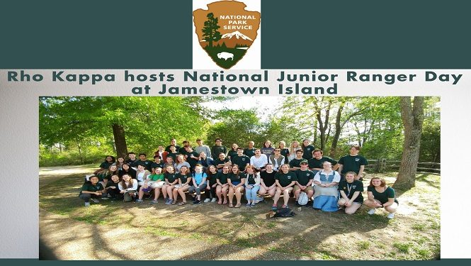 Rho Kappa hosts National Junior Ranger Day at Jamestown Island