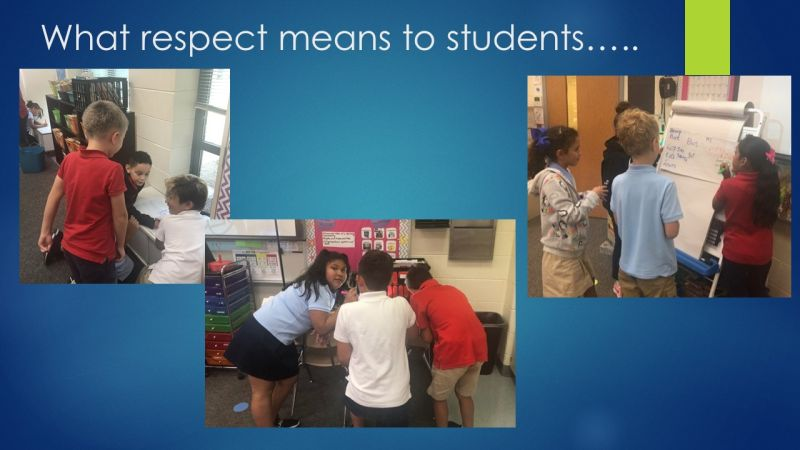 What respect means to students