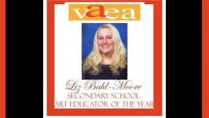 Liz Bahl-Moore, Secondary Educator of the Year.