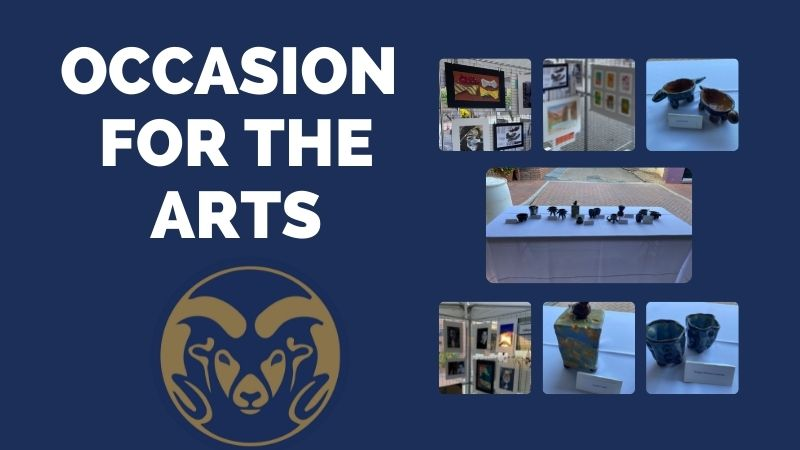 Pictures of LHS student artwork displayed at An Occasion for the Arts.
