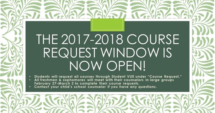 The 2017-2018 course request window is now open