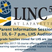 LINC5 Information Session May 10 at 6 p.m. LHS Aud.