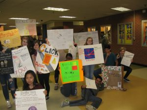 "LHS students create posters for ""Click it or Ticket"""