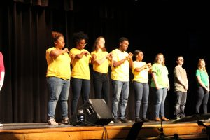 ASL students perform at the Black History Month Assembly