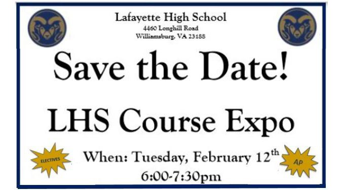 LHS Course Expo Tuesday, February 12th from 6-7 PM
