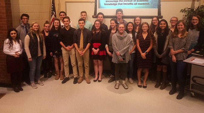 Members of the Science National Honor Society