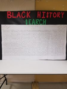 Extra large word search created for Black History Month.