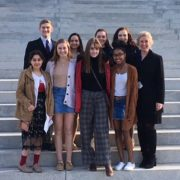 LHS students on the steps of the State Capital.