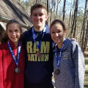 3 LHS runners with their medals.