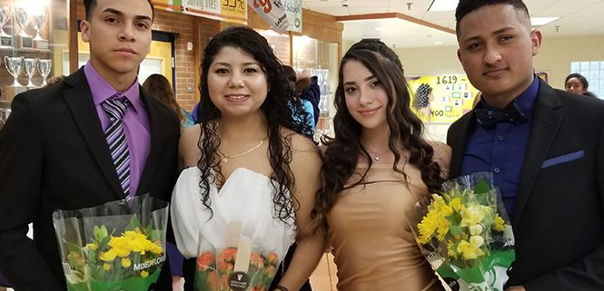 Congratulations to Henry Hernandez, Patrica Lopez, Valeria Miquelarena, Gustavo Tejada! They are Lafayette's first English Language Learner students to achieve membership in the National Honor Society!