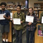 Participating students with their certificates of recognition.