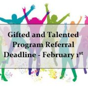 gifted and talented program deadline feb 1st