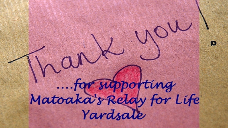 Thank You For Supporting Relay For Life