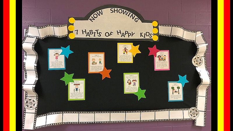 7 Habits of Happy Kids Bulletin Board Display