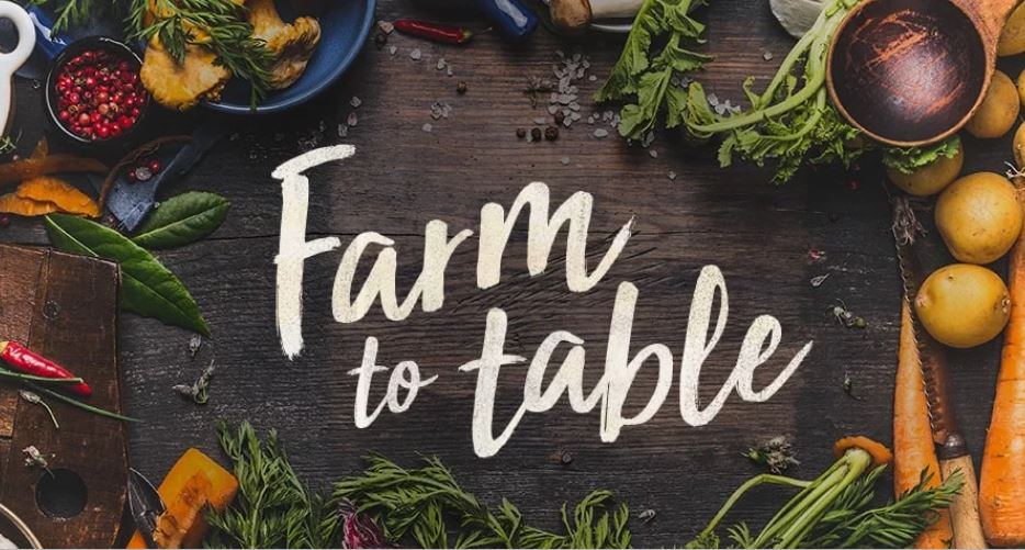 Farm to Table image with vegetables