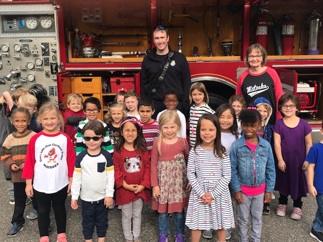 firefighters visit elementary school