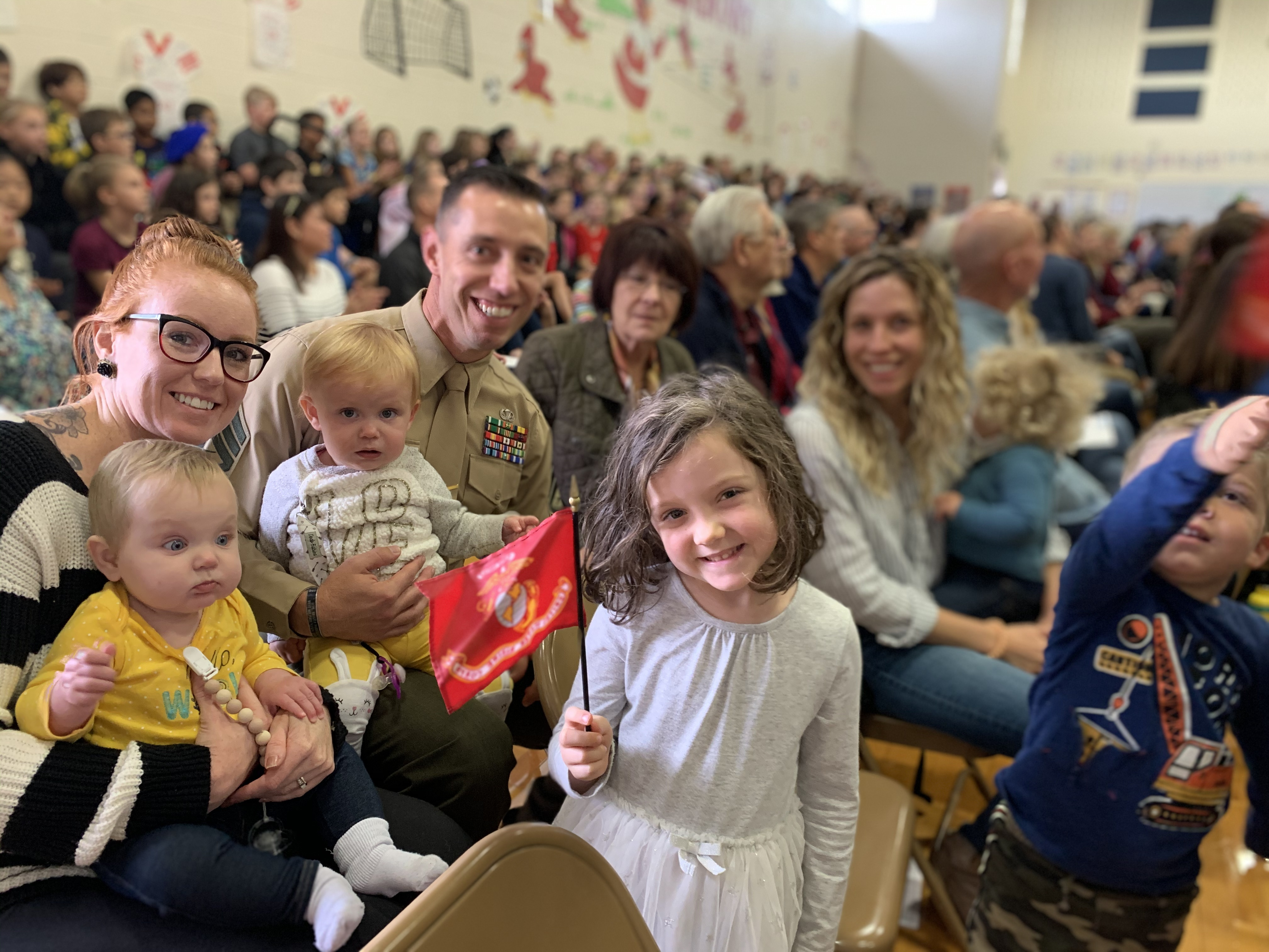 military family at school