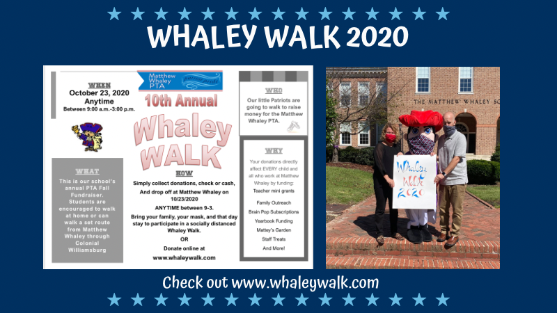 Whaley Walk is Friday, October 23rd!