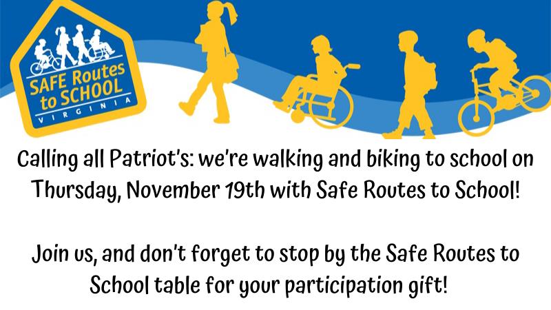 Walk Bike to School November 19!