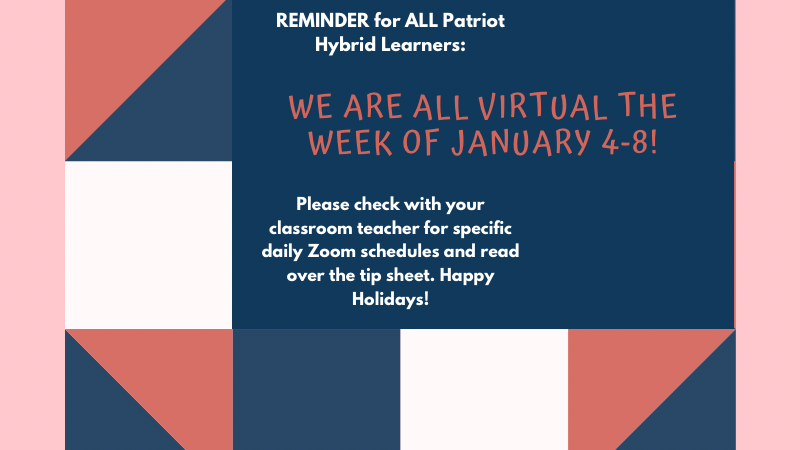 We are ALL Virtual Jan 4-8!