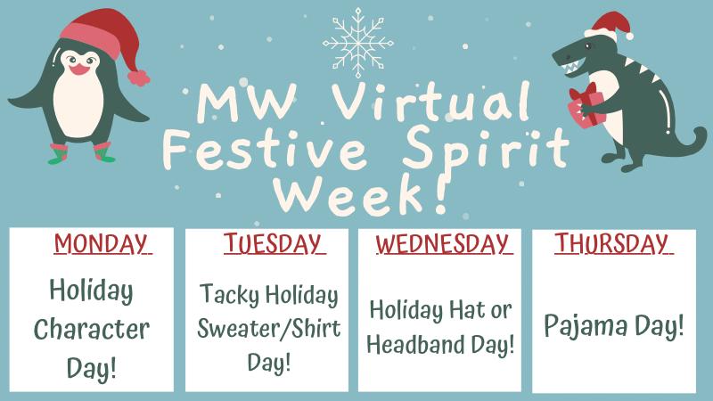 Festive Spirit Week! Dec 14-17