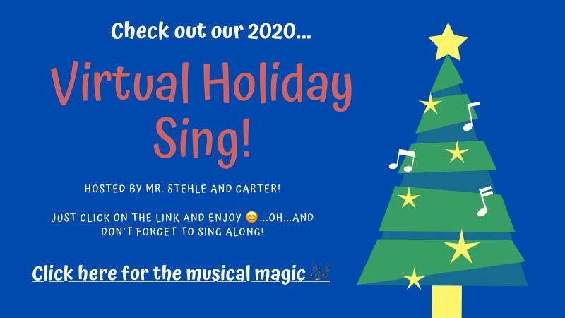 Virtual HOLIDAY SING!