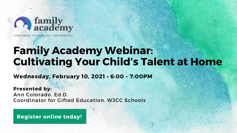 Family Academy Webinar - Cultivating Your Child's Talent at Home
