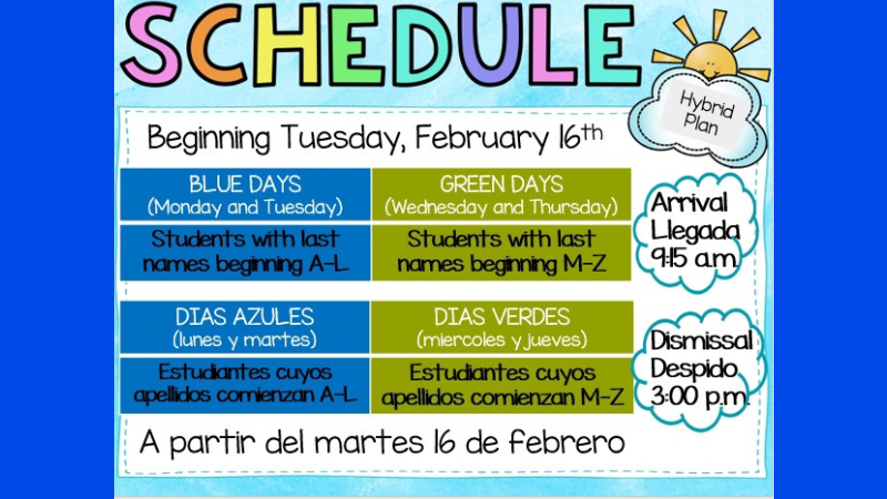 Hybrid Learning Begins Tuesday February 16th!
