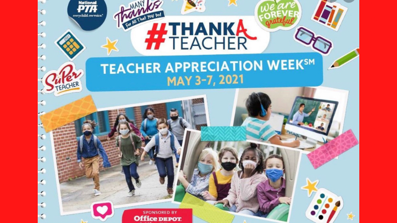 Teacher appreciation week is May 3-7!