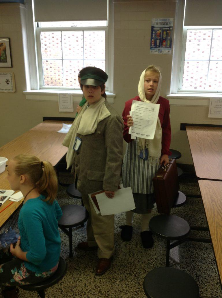 Fifth Grade Participates in an Ellis Island Immigration ...