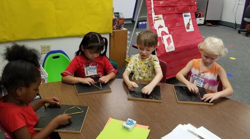 kindergarten shape building