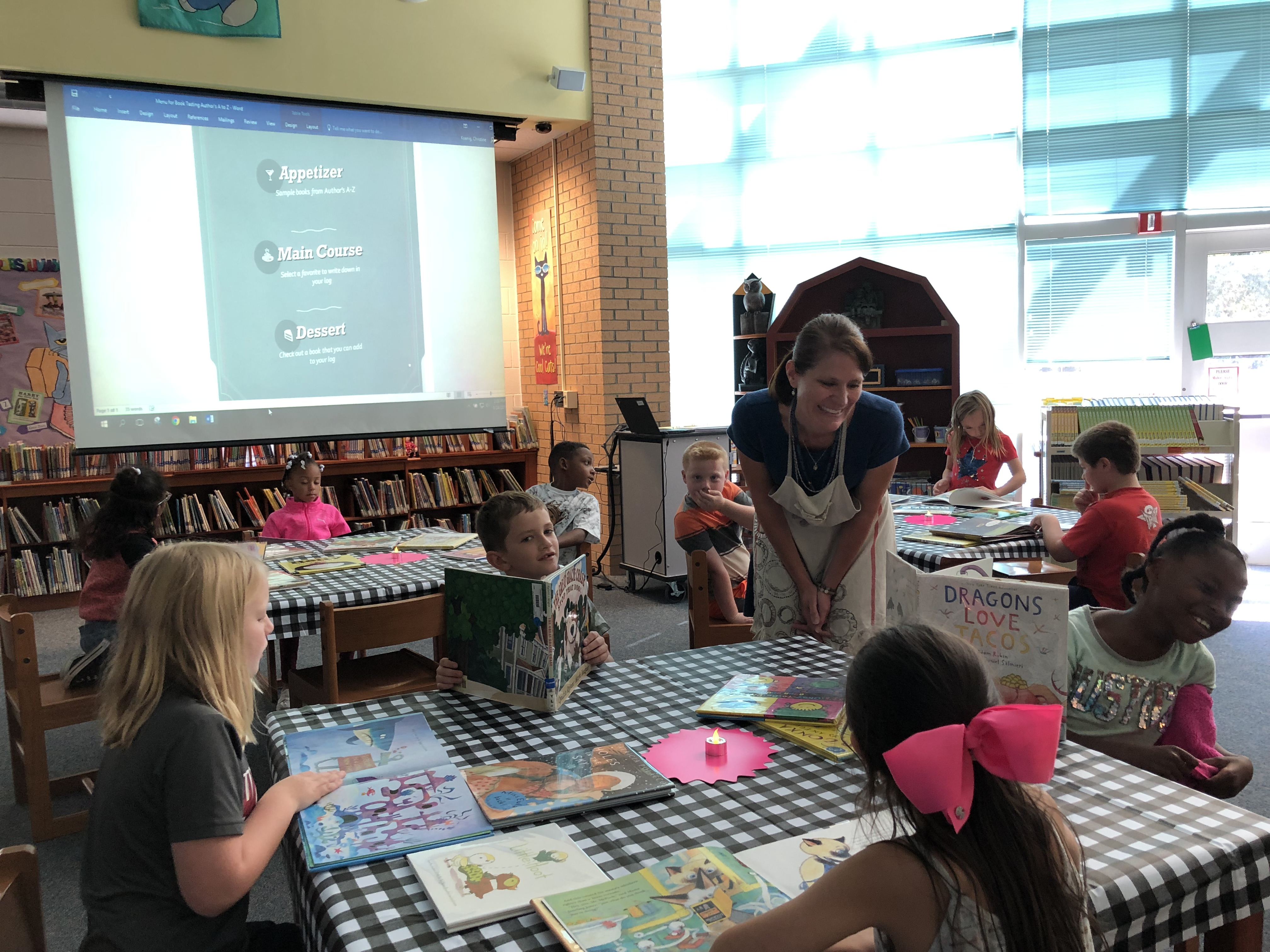book tasting in library
