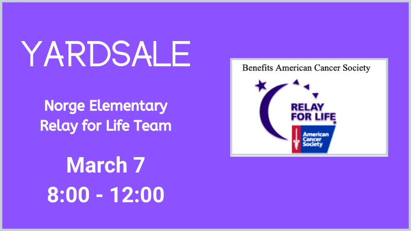 yardsale relay for life