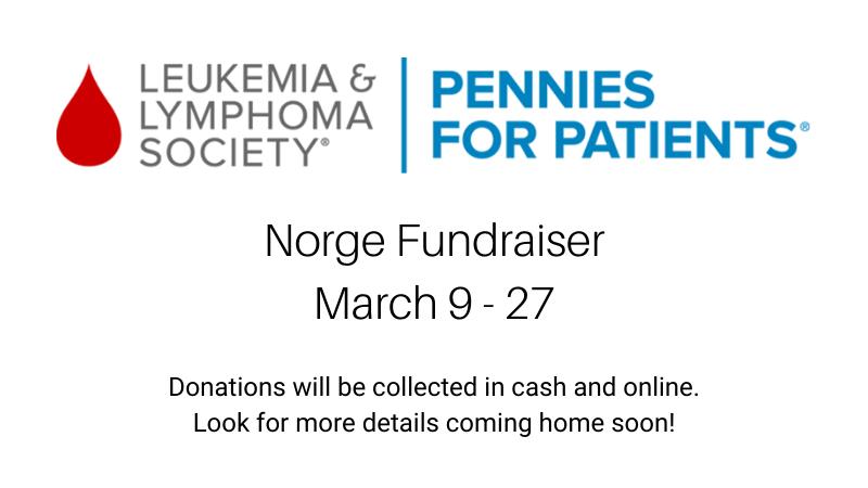 leukemia and lymphoma society fundraiser march 9-27