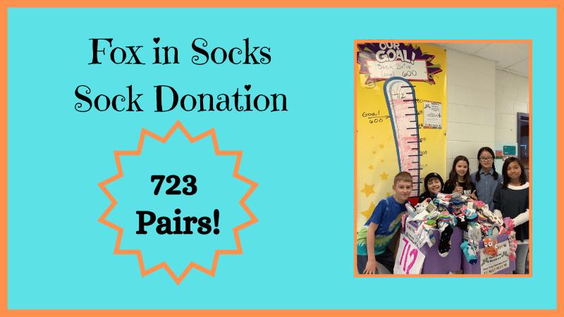 723 pairs of socks donated