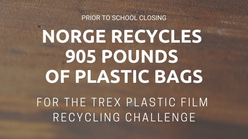 norge recycles 905 pounds of plastic bags