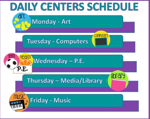 daily centers schedule