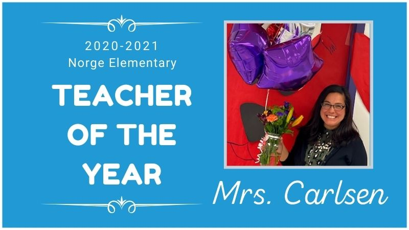 mrs. carlsen norge teacher of the year 2020-2021