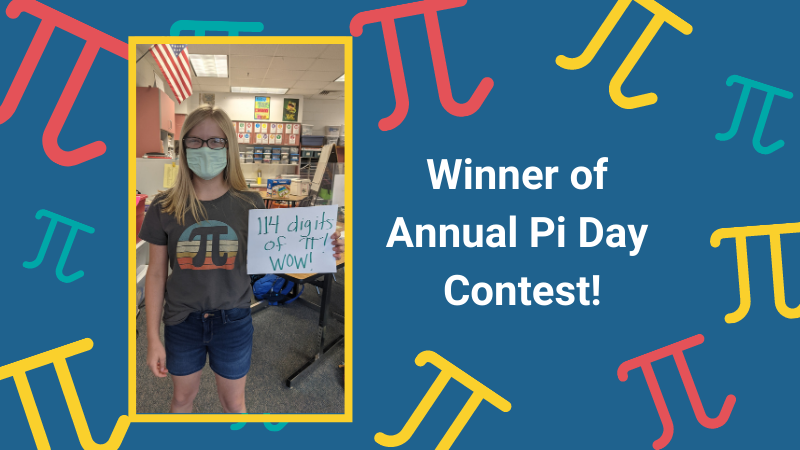 lydia winner pi day contest