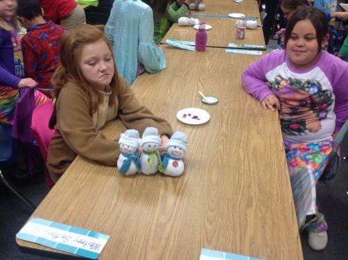 16-01-07 Snowmen Third Grade