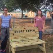 buddy bench sofia and maya
