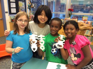 Maria from China visiting 3rd grade