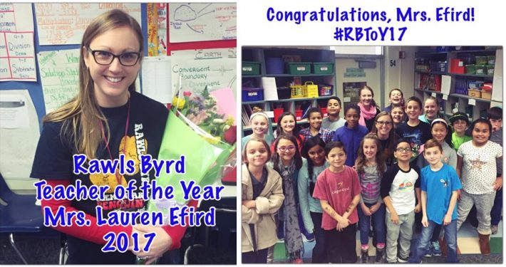 2017 RBES Teacher of the Year