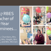 2017 RBES Teacher of the Year Nominees