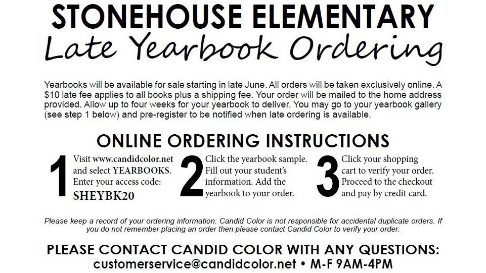 Late Yearbook Orders