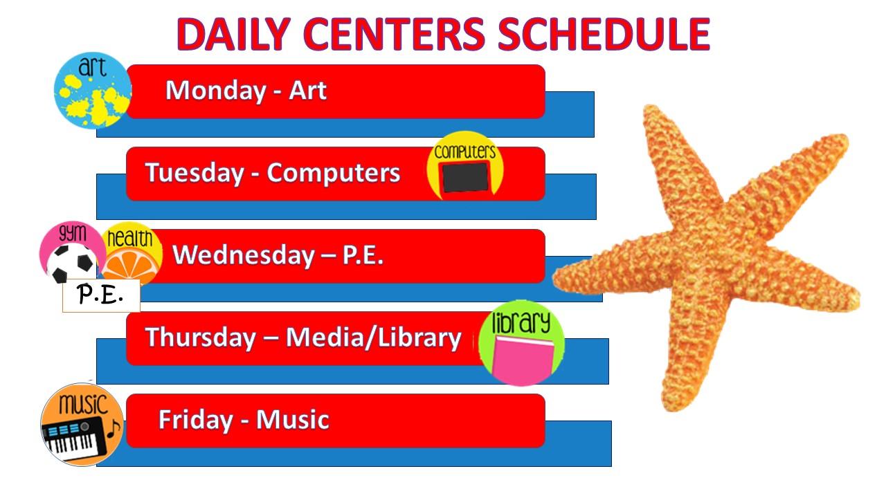 Online Centers Schedule