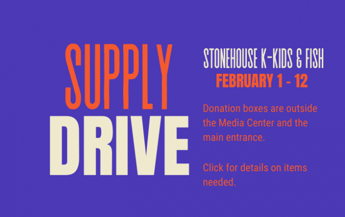 Supply Drive for FISH February 1 - 12