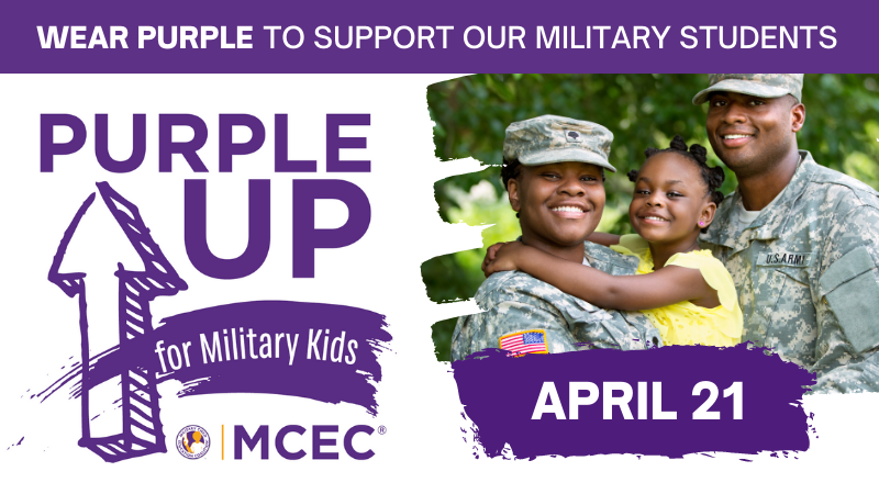 Show support for our Military Connected Children on April 21